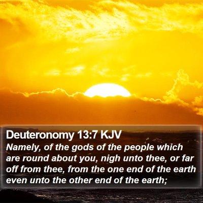Deuteronomy 13:7 KJV Bible Verse Image