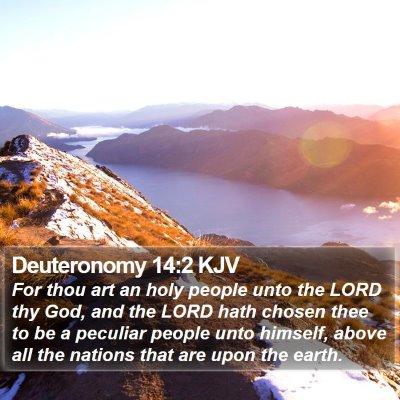 Deuteronomy 14:2 KJV Bible Verse Image