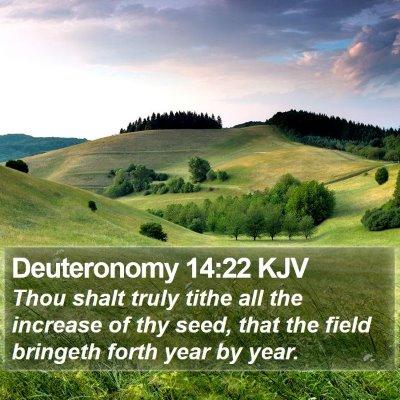 Deuteronomy 14:22 KJV Bible Verse Image
