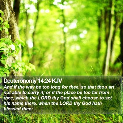 Deuteronomy 14:24 KJV Bible Verse Image