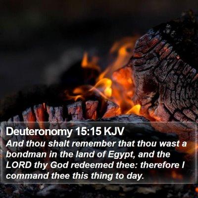 Deuteronomy 15:15 KJV Bible Verse Image