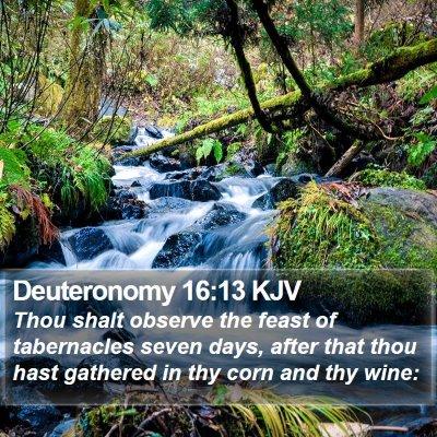 Deuteronomy 16:13 KJV Bible Verse Image
