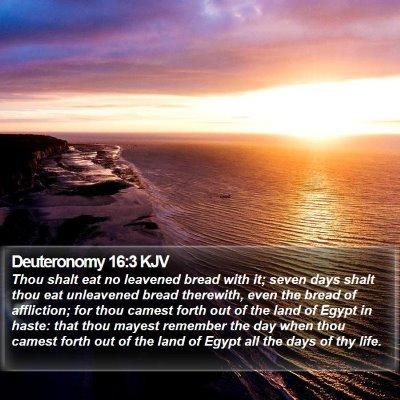 Deuteronomy 16:3 KJV Bible Verse Image