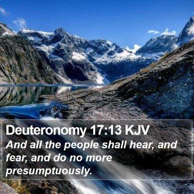 Deuteronomy 17:13 KJV Bible Verse Image