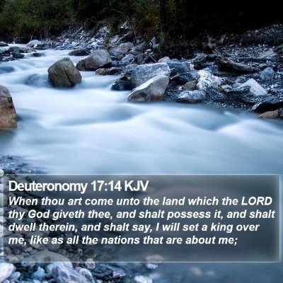 Deuteronomy 17:14 KJV Bible Verse Image
