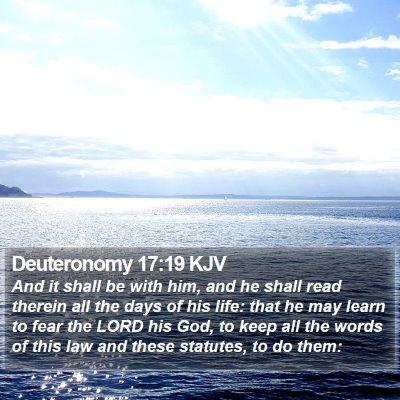 Deuteronomy 17:19 KJV Bible Verse Image