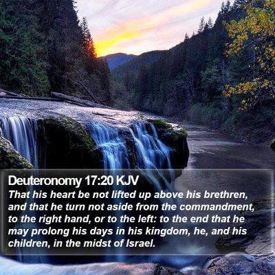 Deuteronomy 17:20 KJV Bible Verse Image