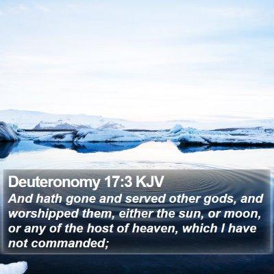 Deuteronomy 17:3 KJV Bible Verse Image