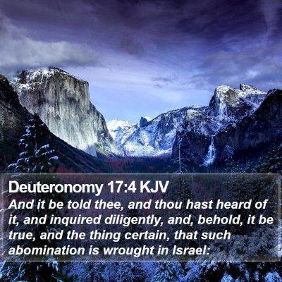Deuteronomy 17:4 KJV Bible Verse Image