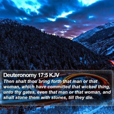 Deuteronomy 17:5 KJV Bible Verse Image