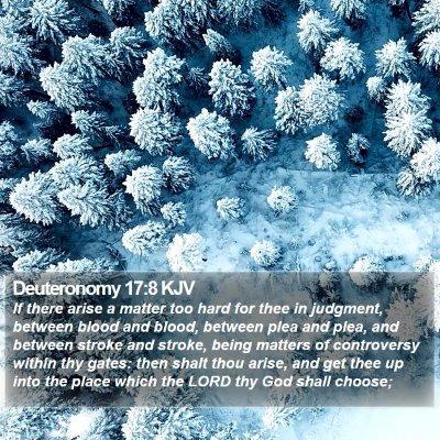 Deuteronomy 17:8 KJV Bible Verse Image