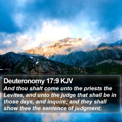 Deuteronomy 17:9 KJV Bible Verse Image