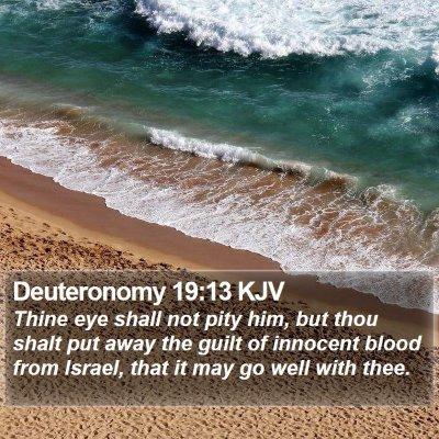Deuteronomy 19:13 KJV Bible Verse Image