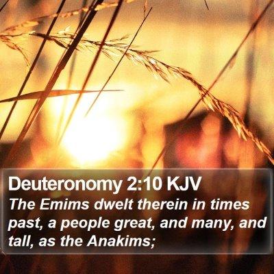 Deuteronomy 2:10 KJV Bible Verse Image