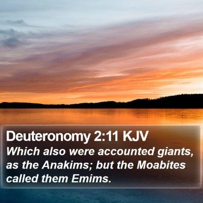 Deuteronomy 2:11 KJV Bible Verse Image