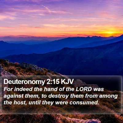 Deuteronomy 2:15 KJV Bible Verse Image