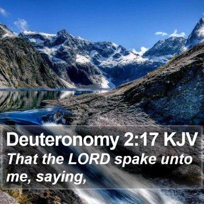 Deuteronomy 2:17 KJV Bible Verse Image