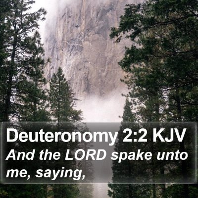 Deuteronomy 2:2 KJV Bible Verse Image