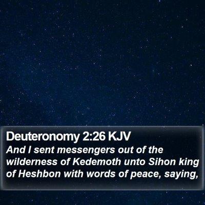 Deuteronomy 2:26 KJV Bible Verse Image