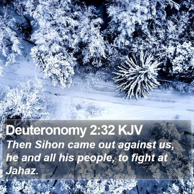 Deuteronomy 2:32 KJV Bible Verse Image