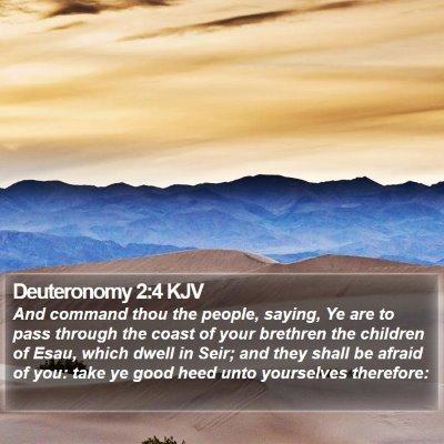 Deuteronomy 2:4 KJV Bible Verse Image