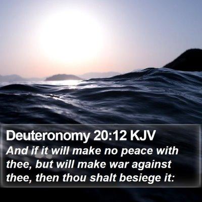 Deuteronomy 20:12 KJV Bible Verse Image