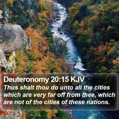 Deuteronomy 20:15 KJV Bible Verse Image