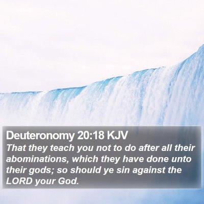 Deuteronomy 20:18 KJV Bible Verse Image