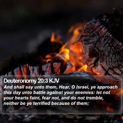 Deuteronomy 20:3 KJV Bible Verse Image