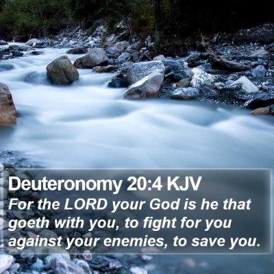 Deuteronomy 20:4 KJV Bible Verse Image