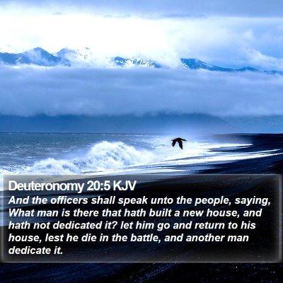 Deuteronomy 20:5 KJV Bible Verse Image