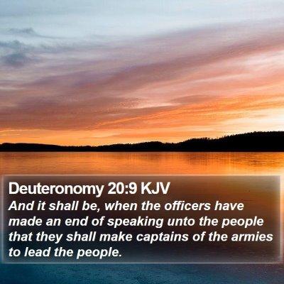Deuteronomy 20:9 KJV Bible Verse Image
