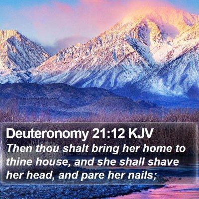 Deuteronomy 21:12 KJV Bible Verse Image