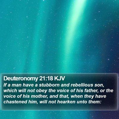 Deuteronomy 21:18 KJV Bible Verse Image