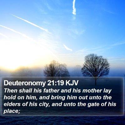 Deuteronomy 21:19 KJV Bible Verse Image