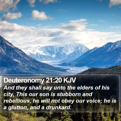 Deuteronomy 21:20 KJV Bible Verse Image