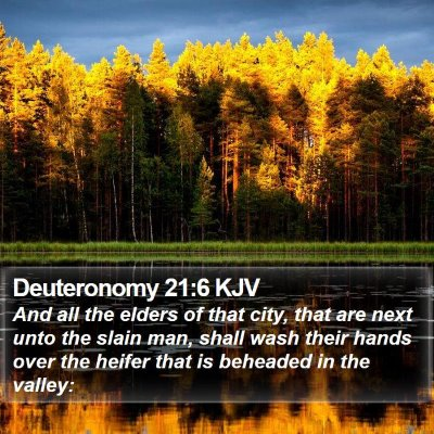 Deuteronomy 21:6 KJV Bible Verse Image