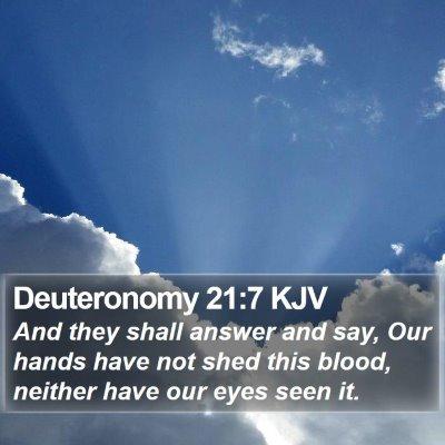 Deuteronomy 21:7 KJV Bible Verse Image