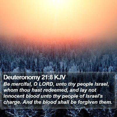 Deuteronomy 21:8 KJV Bible Verse Image