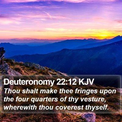 Deuteronomy 22:12 KJV Bible Verse Image