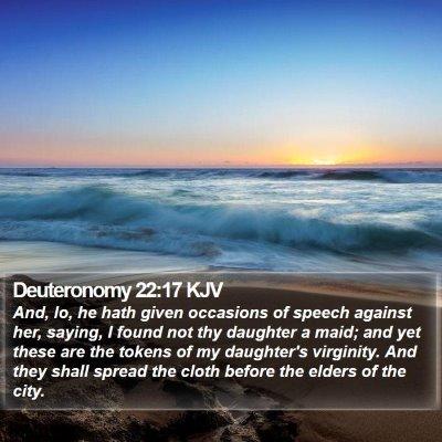 Deuteronomy 22:17 KJV Bible Verse Image