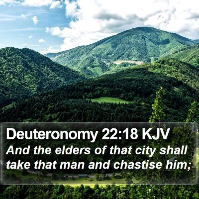 Deuteronomy 22:18 KJV Bible Verse Image