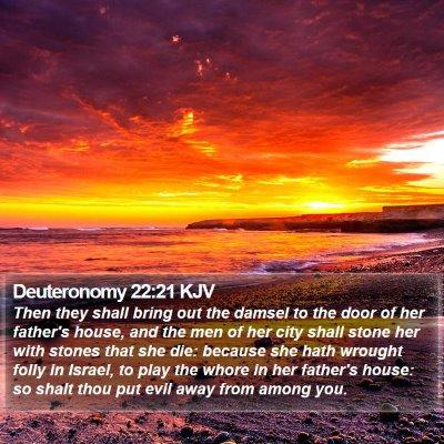 Deuteronomy 22:21 KJV Bible Verse Image