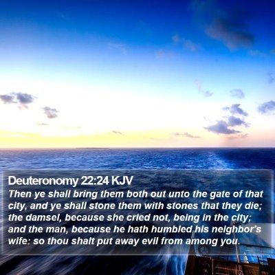 Deuteronomy 22:24 KJV Bible Verse Image