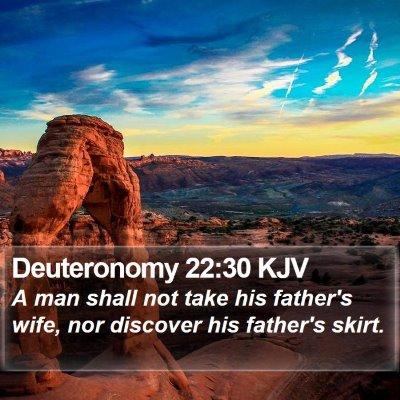 Deuteronomy 22:30 KJV Bible Verse Image