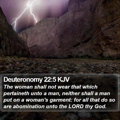 Deuteronomy 22:5 KJV Bible Verse Image
