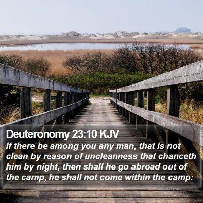 Deuteronomy 23:10 KJV Bible Verse Image