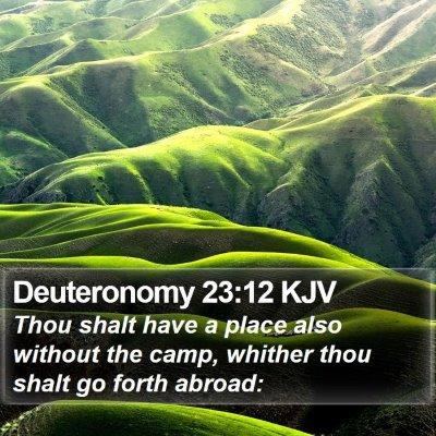 Deuteronomy 23:12 KJV Bible Verse Image