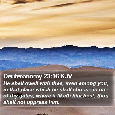 Deuteronomy 23:16 KJV Bible Verse Image