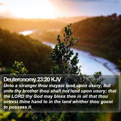 Deuteronomy 23:20 KJV Bible Verse Image